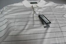 """Bobby Jones 100% Cotton Golf Polo Shirt White + Black Stripe XXL/XXXXL 48/50 """""""