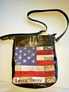 American Flag Shoulder Cross Body Bag Purse Summer Canvas Patriotic Old Glory