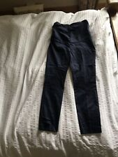 H&M Cigarette Maternity Trousers Navy 12