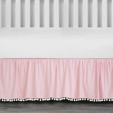 The Peanut Shell Pink Dust Ruffle - Baby - Girl - 100% Cotton - Nursery Sheets