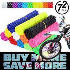 72x Universal Wheel Spoke Wraps Motorcycle Cover Pipe Skins Dirt Bike Protector