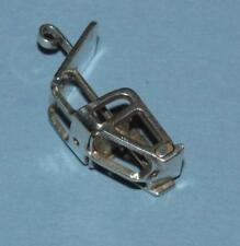 "Vintage ~ SKI LIFT CHARM 800 European Silver ~FIGURAL 3D GERMANY~HallMarked ""CH"""