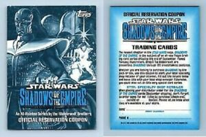 STAR WARS  SHADOW OF THE EMPIRE   RESERVATION COUPON  BY TOPPS 1996
