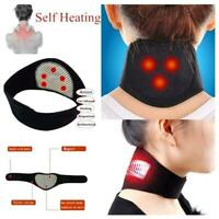 Self-heating Tourmaline Neck Brace Belt Magnetic Therapy Support Wrap BandH X5E3