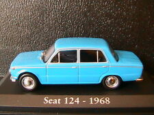 SEAT 124 1968 BLUE RBA COLLECTABLES 1/43 BLAU BLEU LEFT HAND DRIVE DIE CAST