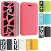 For iPhone 4 4G 4S Wallet Carved Out Design Hard Color Skin Case Cover Accessory
