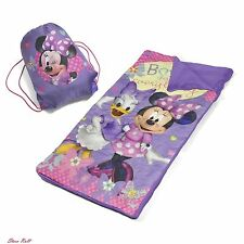 Sleeping Bags For Girls Kids Backpacking Children Lightweight Carry Tote Minnie