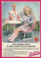 X1065 BARBIE - Jeans - Mattel - Pubblicità 1985 - Advertising