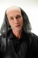 Wig Bald Head half Bald Black Gray Alter Grandpa Igor Frankenstein Long Crazy