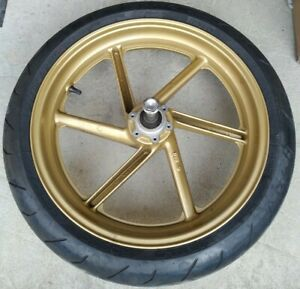 Honda CBR600F3 Gold Front Alloy Wheel and Pirelli Tyres