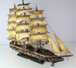 "Antique Model Sailing Ship Red Jacket 26""x23""x6"""
