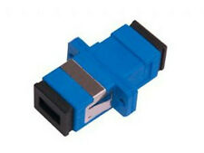 SC Female Adapter, Blue Housing with Zirconia sleeve, 2 pieces