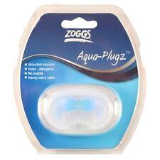 Zoggs Senior Hypo-Allergenic Aqua Plugz Silicone Swimming Ear Plugs Carry Case