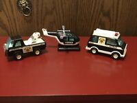Vintage Buddy L Patrol Police Wrecker, Van And Chopper49683 In Good Condition 5""