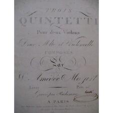 MOZART W. A. Quintettes Violons Altos Violoncelle ca1800 partition sheet music s