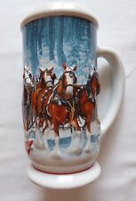 "2007 Budweiser Clydesdale Holiday Stein ""Winter Calm"" in box"