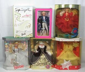 Lot 6 Barbie Happy Holidays 1989 1992 1993 1996 Spiegel Winners Circle The Gap