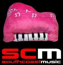 Pink EMBROIDERED PIANO KEYBOARD CUSHION 35x30cm PLUSH STUFFED PILLOW TOY