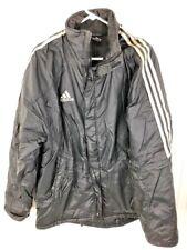 Vintage Adidas Jacket Black Coat Football Medium M Rare Nylon Free Shipping Rare