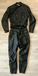 Original HARRO Lederkombi Gr 40 Schwarz Leather Suit Classic Oldtimer Kombi Top