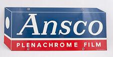 Ansco Plenachrome Film Double Sided Sign (G4R) 23.5x10 U16-25 Photography Camera