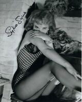 SYLVIA SYMS HAND SIGNED 8x10 PHOTO+COA             SEXY+SEDUCTIVE POSE