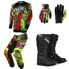 O'Neal Element Vandal Neon Motocross Dirtbike MX Jersey Pants Gloves Boots Combo
