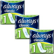 Always Maxi Classic Pads Standard Normal Sanitary Towels - Size 1 - 30 Pack