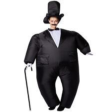 Selbstaufblasbares Unisex Kostüm Smoking aufblasbar BlowUp Fasching Karneval Hut