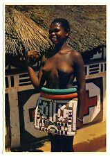 S Africa woman in traditional dress Ndébélé femme en costume traditionnel * 60s ETHNIC NUDE pc