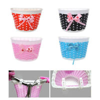 1*Bicycle Front Basket Bowknot Bike Shopping Holder for Children Kids Girls Cute