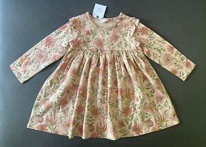 Baby Girl 18-24 Month Next UK Pink Bunny Long Sleeve Ruffle Dress