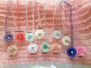 NEW mini crochet flower tieback headband for baby boy girl newborn photo prop