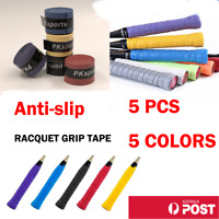 5 x Anti-slip Tennis Badminton Squash Racquet Over Grip Tape Overgrip Sweatband