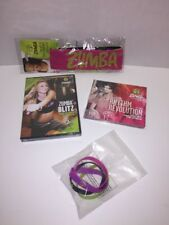 NEW Zumba Fitness Exercise Set DVD ,2 CD, Headbands, Bracelets 4 Piece LOT