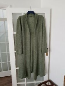 MADE IN ITALY  wool blend open front  long cardigan size L-XL