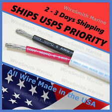 6/2 AWG TINNED COPPER DUPLEX MARINE BOAT CABLE GAUGE WIRE 20 FEET  RED / BLACK
