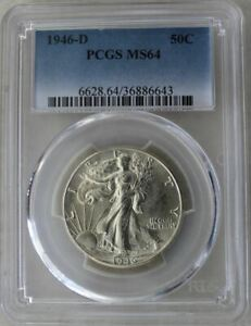 1946-D Half Dollar PCGS MS64