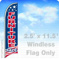 Furniture Sale - Windless Swooper Flag 2.5x11.5 Feather Banner Sign - Usa bb