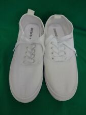 H&M  Divided Ladies White Canvas Lace up Trainers Size 5.5 / 39 Unworn