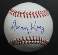Larry King Signed Official MLB Autograph Baseball CNN Live TV Radio Host JSA COA