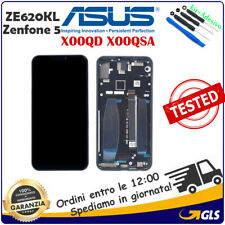 Display LCD Touch Screen VETRO FRAME Per ASUS Zenfone 5 2018 ZE620KL X00QD NERO