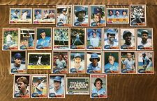 1981 KANSAS CITY ROYALS Topps COMPLETE Baseball Team Set 29 Cards BRETT WILSON!