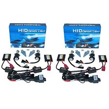 6000K Super White Hi/Low H4 HID Light Bulbs Bi-Xenon Slim Ballast Headlight Set