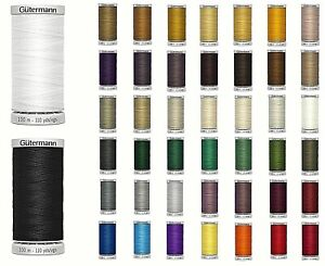 GUTERMANN EXTRA STRONG THREAD 100M HAND & MACHINE/UPHOLSTERY SEWING-Various Col