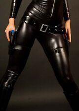 Lara Croft Style Black Thigh Leg Holster Set