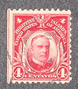 Travelstamps: US Philippines stamps scott #242, 4 cent issue of 1906 Used NG
