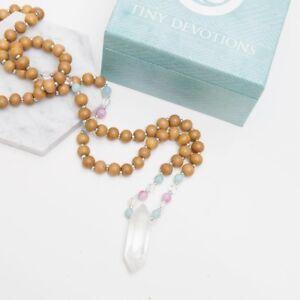 Tiny Devotions Ocean Healer Mala Necklace Bracelet Yoga Prayer Beads Agate