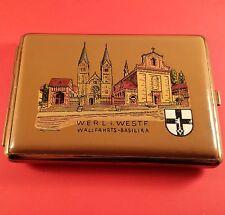 "Vintage Dich ""German"" Cigarette Case "" Wallfahrts-Basilika "" With Original Paper"