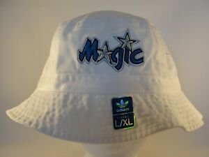 Orlando Magic NBA Adidas Throwback Logo Bucket Hat Size L/XL White